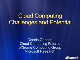 Cloud Computing Challenges and Potential