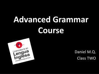 Advanced Grammar Course