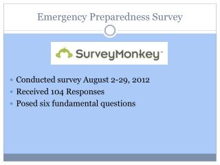 Emergency Preparedness Survey