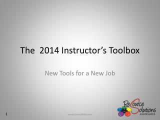 The  2014 Instructor's Toolbox