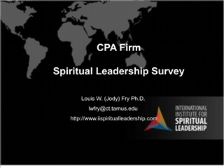 cpa firm  spiritual leadership survey