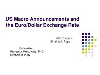 US Macro Announcements and the Euro/Dollar Exchange Rate