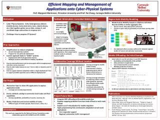 Efficient Mapping and Management  of Applications onto Cyber -Physical Systems