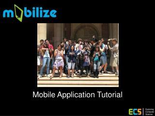 Mobile Application Tutorial