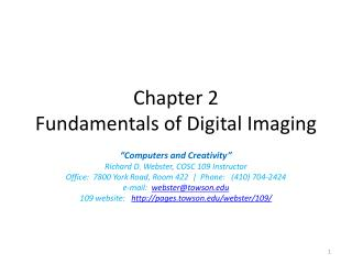 Chapter 2 Fundamentals of Digital Imaging