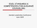 esol standards  competencies for guidance counselors