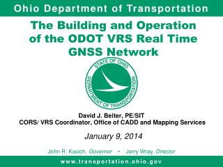 The Building and Operation of the ODOT VRS Real Time GNSS Network