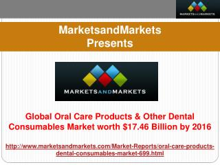 Global Oral Care Products