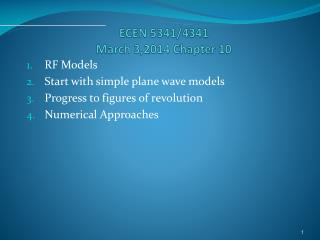 ECEN 5341/4341 March 3,2014 Chapter 10