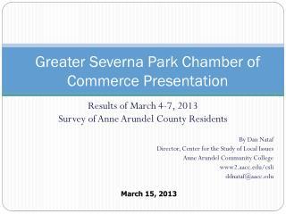 Greater Severna Park Chamber of Commerce Presentation