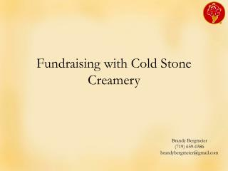 Fundraising with Cold Stone Creamery