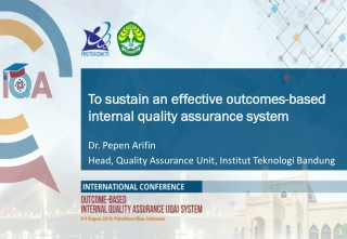 To sustain an effective outcomes-based internal quality assurance system