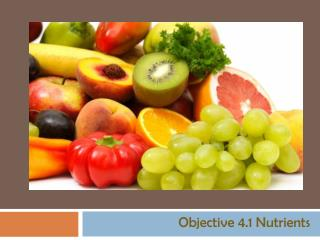 Objective 4.1 Nutrients