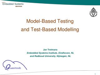 Model-Based Testing and Test-Based  Modelling