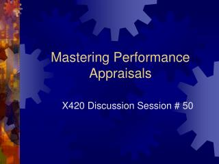 Mastering Performance Appraisals