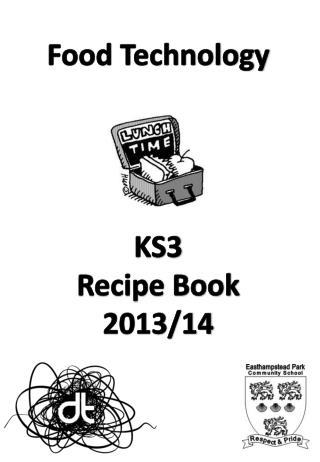 Food Technology KS3 Recipe Book 2013/14