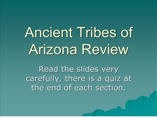 ancient tribes of arizona review