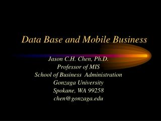 Data Base and Mobile Business