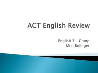 ACT English Review