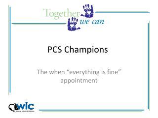 PCS Champions