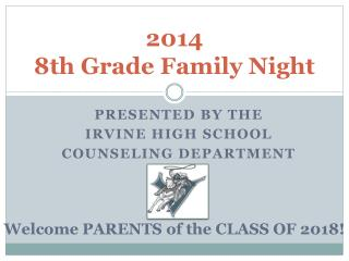 2014 8th Grade Family Night