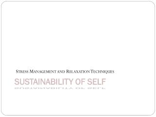 Sustainability of Self