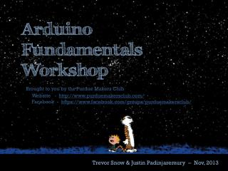 Arduino Fundamentals Workshop