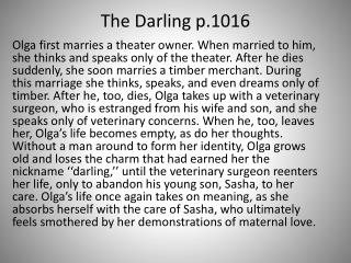 The Darling p.1016