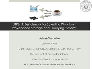 UTPB: A Benchmark for Scientific Workflow Provenance Storage and Querying Systems