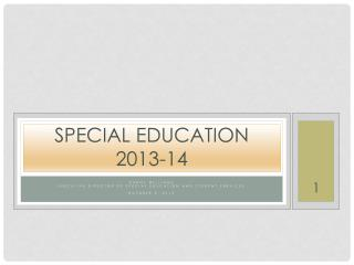 Special Education 2013-14