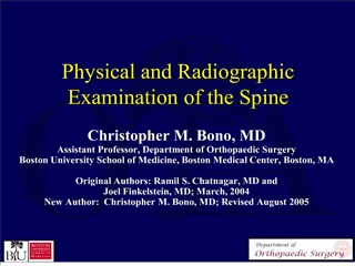 physical and radiographic examination of the spine