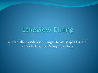 Lakeview Dining