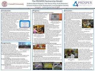 The PROSPER Partnership Model:  Evidence Based Programs That Reduce Risky Youth Behaviors,  Enhance Positive Youth Deve