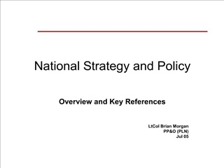 national strategy and policy