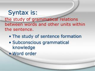 Syntax is: