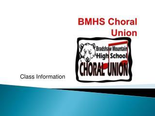 BMHS Choral Union