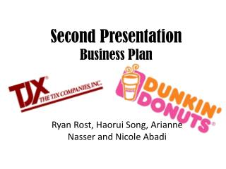 Second Presentation Business Plan