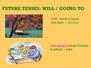 FUTURE TENSES: WILL / GOING TO
