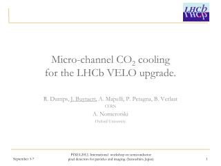 Micro-channel CO 2  cooling  for the  LHCb  VELO upgrade.