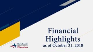 Financial Highlights as of October 31, 2018