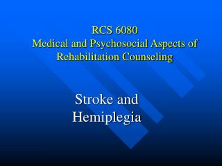 rcs 6080 medical and psychosocial aspects of rehabilitation ...