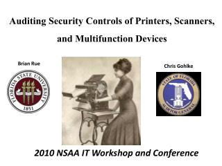 Auditing Security Controls of Printers, Scanners, and Multifunction Devices