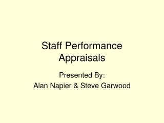 performance appraisals   action statements