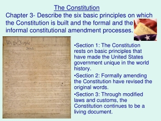 what are the five principles of the constitution
