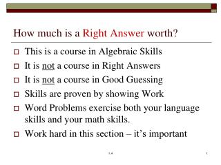 How much is a  Right Answer  worth?