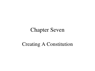 the executive branch chapter seven