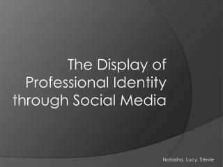 The Display of Professional Identity through Social Media