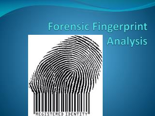 Forensic Fingerprint Analysis