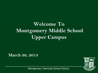Welcome To Montgomery Middle School Upper Campus