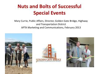 Nuts  and Bolts of  Successful  Special  Events